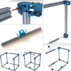 3d Printer Designs, 3d Printer Projects, Diy Computer Case, 3d Models For Printing, 3d Cnc, Cad Cam, 3d Modelle, Cnc Lathe, 3d Printing Technology