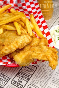 """Fish and Chips - The Midnight Baker - Fish and chips is a British staple and their original """"fast food."""" Fish and chips is another fo - Fish Recipes, Seafood Recipes, Great Recipes, Cooking Recipes, Chicken Recipes, Favorite Recipes, Cooking Ideas, Recipies, Dinner Recipes"""