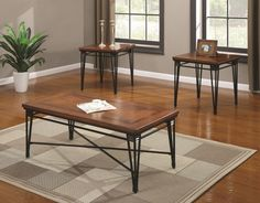 3 Piece Occasional Table Sets 3 Piece Table Set by Coaster