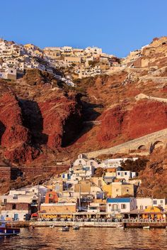 Ammoudi is a tiny yet charming port with a very small beach in the caldera at the foot of the village of Oia on Santorini island