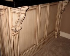 Add Wood Appliques To Kitchen Cabinets Prior To Paining