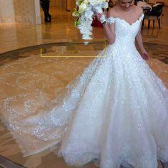 Cheap vestido de noiva, Buy Quality de noiva directly from China bridal dress Suppliers: Luxury Wedding Dress 2016 Royal Train Off Shoulder Bridal Dress New Ball Gowns Dubai Wedding Girls 2016 Vestidos De Noiva