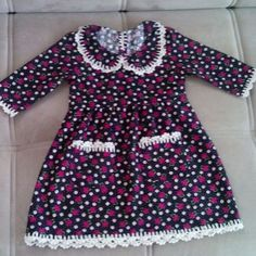 Pazenden diktiğim tığla süslediğim bebek elbisem Frocks For Girls, Dresses Kids Girl, Kids Outfits, Pakistani Kids Dresses, Baby Princess Dress, Dress Anak, Baby Dress Patterns, Baby Fabric, Carters Dresses