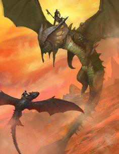 ArtStation - dragon ride, Imario Susilo