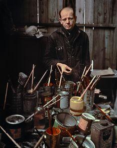 Jackson Pollock  Long Island, NY, 1949, Arnold Newman, photographer