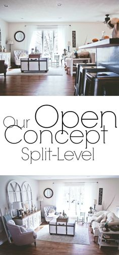 we renovated our split level and made it open concept. A look at the whole process.How we renovated our split level and made it open concept. A look at the whole process. Craft the perfect floor plan with these tips. Room Remodeling, Kitchen Remodel, Split Level Remodel, Livingroom Layout, Floor Remodel, Home Remodeling, Living Room Remodel, Home Decor, Home Renovation