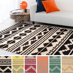 Shop for Montgomery Flatweave Southwestern Area Rug (5' x 8'). Get free shipping at Overstock.com - Your Online Home Decor Outlet…