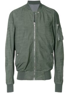 RICK OWENS GREEN. #rickowens #cloth # Flight Bomber Jacket, Green Bomber Jacket, Rick Owens Men, Casual Looks, Mens Fashion, Long Sleeve, Sleeves, Cotton, Jackets