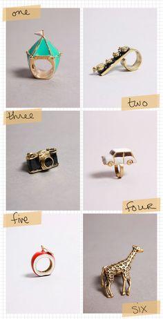 unique rings - LOVE three & four! :)