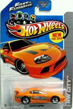 Toyota Supra Hot Wheels 2013 HW City #5/250 Orange- Fast & Furious Movie Car