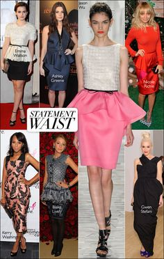 Peplum runway trend made wearable. #harpersbazaar #fashion #trends #emmawatson