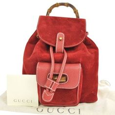 Gucci Bamboo Hand Suede Leather Italy Vintage Backpack. Get one of the hottest styles of the season! The Gucci Bamboo Hand Suede Leather Italy Vintage Backpack is a top 10 member favorite on Tradesy. Save on yours before they're sold out!