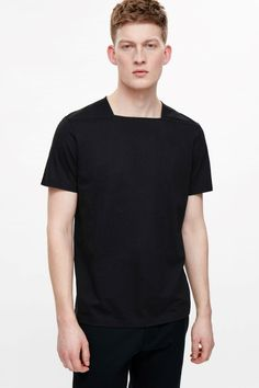 COS   Square-neck cotton t-shirt