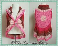 Pocket Full of Posies Vest - Free Crochet Pattern - The Lavender Chair