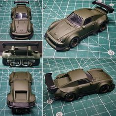Hot Wheels Customs : La Porsche Rauh-Welt de Pisut Masanong - Marine And Land Vehicles Custom Hot Wheels, Hot Wheels Cars, Hot Cars, Custom Cars, Voitures Hot Wheels, Custom Porsche, Rauh Welt, Bike Engine, Miniature Cars