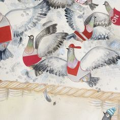GARY is Leila Rudge's marvelously illustrated picture book about a racing pigeon who can't fly but longs for adventure. Gary keeps track of the adventures of his flock mates in his scrapbook and, when he is stranded in the city, this scrapbook helps him find his way home. A superb book about physical differences and challenging the norm.