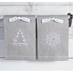 Winter Wonderland French Knot Towels | Living | Mud Pie
