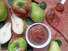 Homemade slow cooked apple-pear butter! This combination was one of the best butters I have tasted! I will definitely be making this more often!