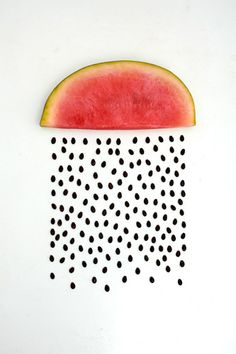 Watermelon seed rain by Sarah Illenberger.