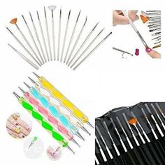 Glam Hobby Nail Art Manicure Pedicure Beauty Painting Polish Brush and Dotting Pen Tool Set for Natural, False, Acrylic and Gel Nails -- Details can be found by clicking on the image. (This is an affiliate link and I receive a commission for the sales) Nail Art Pen, Nail Art Brushes, Acrylic Nail Art, Nail Art Tools, Acrylic Tips, Neon Nail Polish, Neon Nails, 3d Nails, Pink Nail