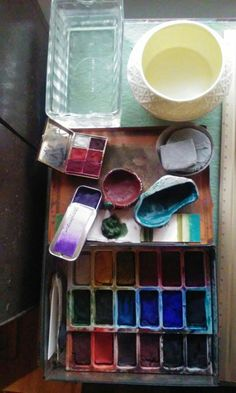 Handmade Watercolors. The beauty of rich mineral pigment paints, that are also versatile in other mediums. The Artists Desk Series.