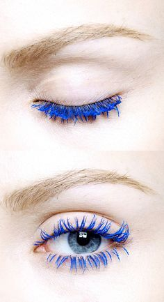 Blue lashes// hopeful-realist.tumblr.com