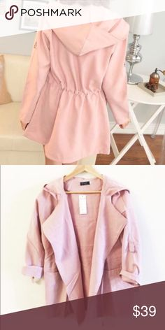 Dust pink light weight coverup Super soft, like light suede feelings. True to size. Great for a cover up, sun covers, or light jacket. Very light, great for late summer and early spring Jackets & Coats