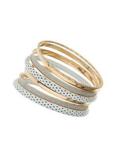 Dorothy PerkinsLot de bracelets joncs scintillants blancs
