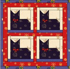 Fairly simple pieced cat pattern. Via http://www.sewvac1.com/Library/catquilt.htm** look at modifying this pattern