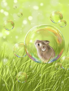 Soap Bubble by Veronica Minozzi is a delightfully whimsical digital work of art