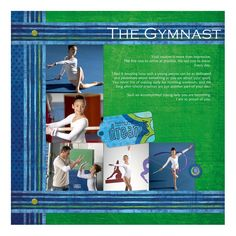 The Gymnast Digital Scrapbooking Layout from Creative Memories