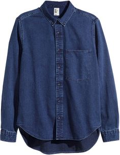 ad08fe3e4 H M Denim Shirt - Dark denim blue Denim Scuro