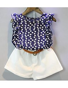 2017 Summer Casual Clothes Children Kids Sets T-shirt + Short Pants Children Suits Girl Clothing Sets for Kids For Years Baby Girl Dresses, Baby Dress, Baby Girl Fashion, Kids Fashion, Kids Outfits, Casual Outfits, Casual Clothes, My Baby Girl, Baby Girls