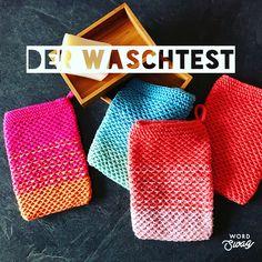 Knit wash gloves - Knitting for Beginners Knitting Socks, Knitting Stitches, Free Knitting, Baby Knitting, Knitting Patterns, Small Knitting Projects, Big Knit Blanket, Bubble, Big Yarn