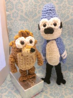 Regular Show Mordecai and Rigby Amigurumi Set by Spudsstitches