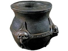 New 2017! What spells and potions can you conjure up this with this high-quality witch's cauldron? This unique cauldron prop is 14 inches in diameter and made from foam-filled latex painted to look like a thick iron cauldron with molded decorative skulls on the outside. Cauldron can be both a classic Halloween decoration and container for candy! Boxed Dims: 16x16x16.
