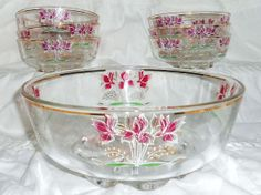 Hand Painted Italian Crystal Serving Bowl & by harmonycollectibles, $50.00 Cute Handbags, Salad Bowls, Serving Bowls, Hand Painted, Crystals, Tableware, Painting, Dinnerware, Dishes