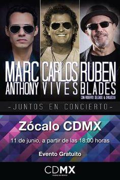 Que más puedes pedir a nuestro maravilloso Jefe de Gobierno. Salsa, merengue y guaguangooo con los tres mejores exponentes de la música tropical... No te lo pierdas... Porque además es gratis. #CDMX #JuntosEnConcierto