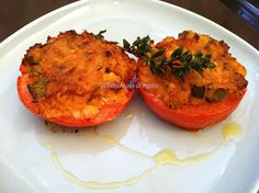 Pomodori ripieni di Sgombro e Zucchine - Tomatoes stuffed with tuna and Zucchini
