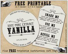 Free Homemade Vanilla Label #Printables - Plus, How to Make Homemade Vanilla - Recipe & Full Photo Tutorial ||  aLittleInsanity.com - Erika