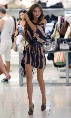 "sexy-in-mini: ""Miniskirt "" I ❤ her cute mini dress and high heels, she has beautiful legs."
