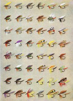 Fly Fishing Print Wet Flies Vintage Print by SkippiDiddlePaper