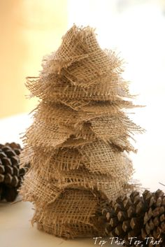 diy burlap trees for the season, crafts, seasonal holiday decor Burlap Christmas Tree, Xmas Tree, Winter Christmas, All Things Christmas, Christmas Decorations, Christmas Ornaments, Winter Holidays, Merry Chistmas, Country Christmas
