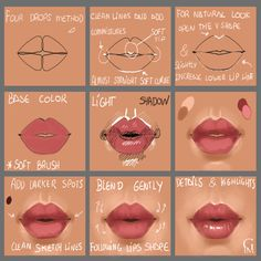 A small step by step on lips. Hope it helps! Thanks for watching! Gloria