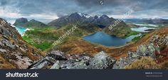Mountain Panorama In Norway, Lofoten Стоковые фотографии 274543340 : Shutterstock Splashback, Lofoten, Photo Editing, Royalty Free Stock Photos, Mountains, Illustration, Water, Landscapes, Travel