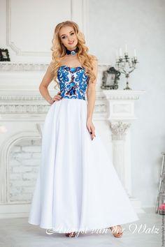 Купить Праздничное платье в Русском стиле. Dress Russian Style - вечернее платье, платье на выпускной