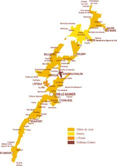 Carte vignoble Jura