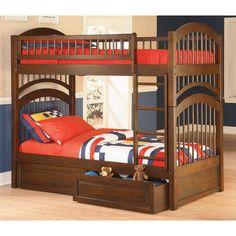 Cool bunk beds for sale home decor waplag kids bedroom feminine pictures of with desk underneath Bunk Beds With Storage, Wood Bunk Beds, Twin Bunk Beds, Kids Bunk Beds, Twin Twin, Kids Single Beds, Atlantic Furniture, Bunk Bed Designs, Bedroom Designs