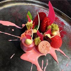 Red fruits, yuzu, basil & cocoa. ✅ By - @jurgenkoens ✅  #ChefsOfInstagram @DessertMasters