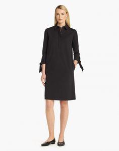 black classic stretch cotton talia dress